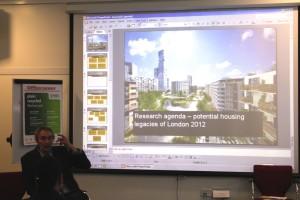 LERI Chair, Professor Gavin Poynter presenting on the second day. Photo: Carla Araujo 2011