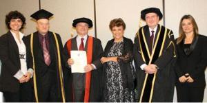 UEL Pro-Vice Chancellor International, John Shaw; Fernando Telles Ribeiro; Maria Alice Ribeiro; UEL Vice-Chancellor Professor Patrick McGhee